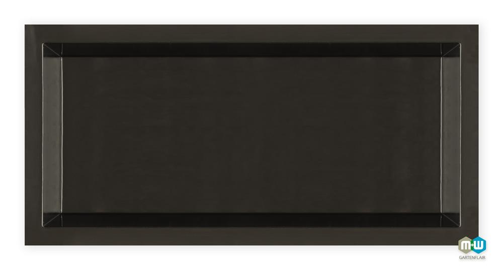 gfk teichbecken rechteckig 2500 liter m w gartenflair. Black Bedroom Furniture Sets. Home Design Ideas